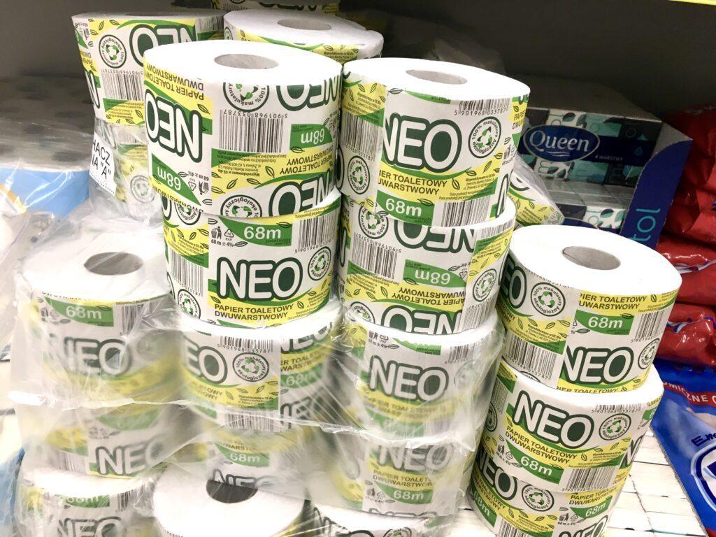 Papier toaletowy z Biedronki - zakupy bez plastiku