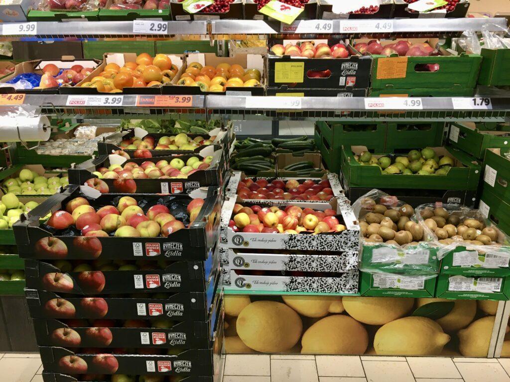 Zakupy bez plastiku - warzywa luzem w Lidlu